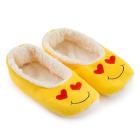Тапочки женские цвет жёлтый/сердечки, размер 35