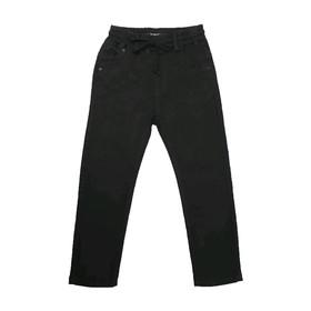 Джинсы для мальчиков, рост 122 см, цвет чёрный Ош