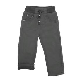 Джинсы для мальчиков, утеплённые, рост 98 см, цвет чёрный Ош