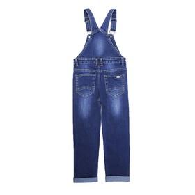 Комбинезон джинсовый для мальчиков, рост 98 Ош