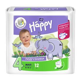 Подгузники Bella baby Happy Maxi (8-18 кг), 12 шт