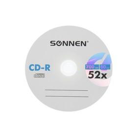 Диск CD-R SONNEN, 52x, 700 Мб, конверт, 1 шт