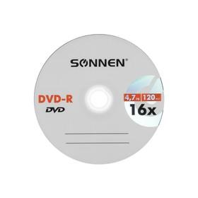 Диск DVD-R SONNEN, 16x, 4.7 Гб, конверт, 1 шт Ош