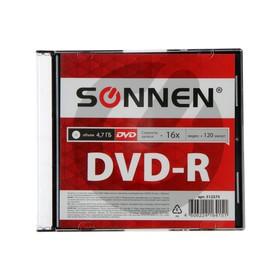 Диск DVD-R SONNEN, 16x, 4.7 Гб, Slim Case, 1 шт