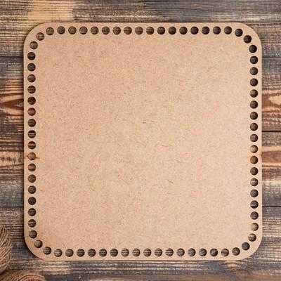 """Заготовка для вязания """"Квадрат скруглённый"""", донышко из фанеры 3 мм, размер 30×30 см - Фото 1"""