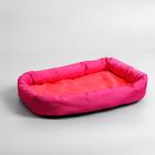 Лежанка мягкая с бортом, 45 х 35 см, микс цветов - Фото 1