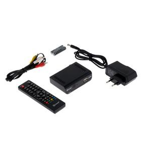 Приставка для цифрового ТВ D-COLOR DC700HD Plus, FullHD, DVB-T2, HDMI, RCA, USB, черная Ош
