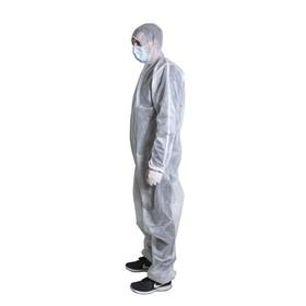 Комбинезон защитный с капюшоном Axper  Белый, материал Бязь (хлопок  100%), 140 г/м² Ош