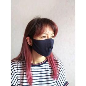 Набор масок для лица многоразовых гигиенических, цвет синий, 5шт.