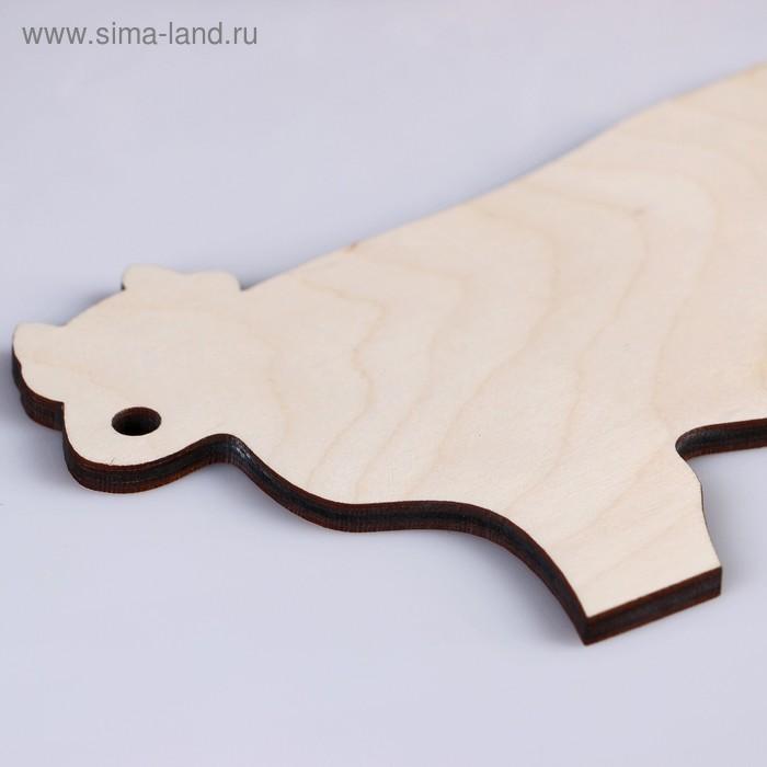 """Доска разделочная """"Корова"""" , 20х15 см"""