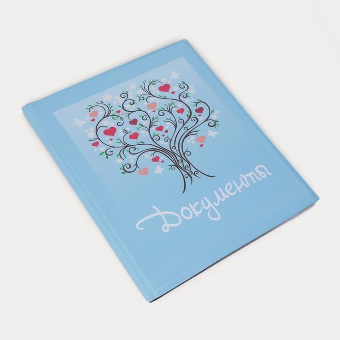 купить Папка для семейных документов, 4 комплекта, цвет голубой