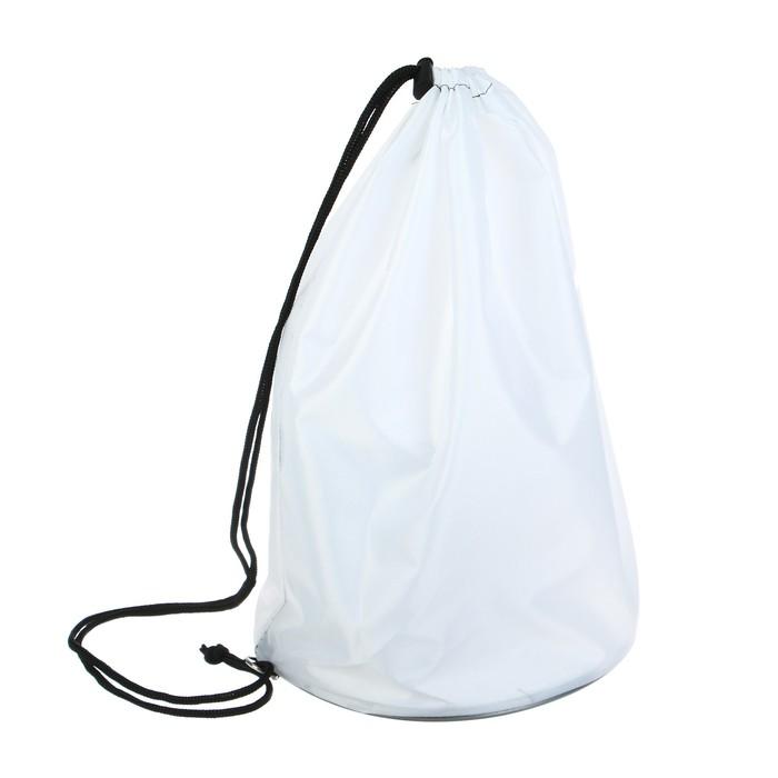 Мешок для обуви и мячей «Стандарт», круглое дно, 360х220 мм, цвет Белый