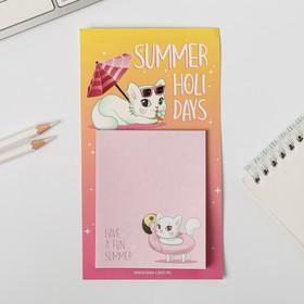 Блок бумаги для записи на магните Summer holidays, 30 листов Ош