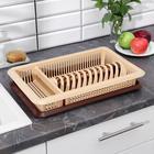 Сушилка для посуды с поддоном «Лилия», 48×30,5×8,5 см, цвет МИКС - Фото 1