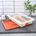Сушилка для посуды с поддоном «Лилия», 48×30,5×8,5 см, цвет МИКС - Фото 3