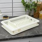 Сушилка для посуды с поддоном «Лилия», 48×30,5×8,5 см, цвет МИКС - Фото 6