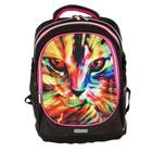 Рюкзак школьный эргономичная спинка deVENTE Excel, 39 х 29 х 16 см, Magic Cat, чёрный/розов