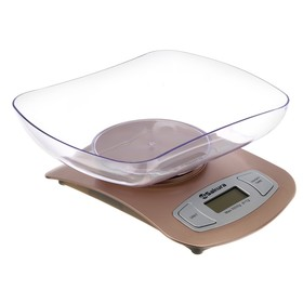 Весы кухонные Sakura SA-6052G, электронные, до 5 кг, золотистые