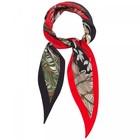 Шарф женский текстильный, цвет, чёрный/красный, размер 33х115