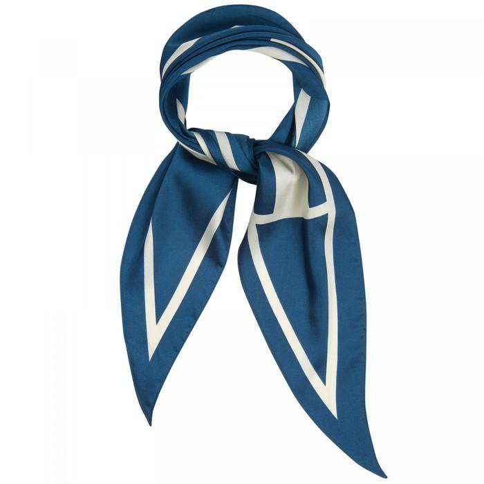 Шарф женский текстильный, цвет молочныйизумруд, размер 33х115