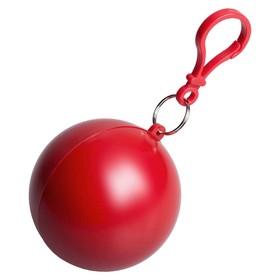 Дождевик в круглом футляре Nimbus, цвет упаковки красный Ош
