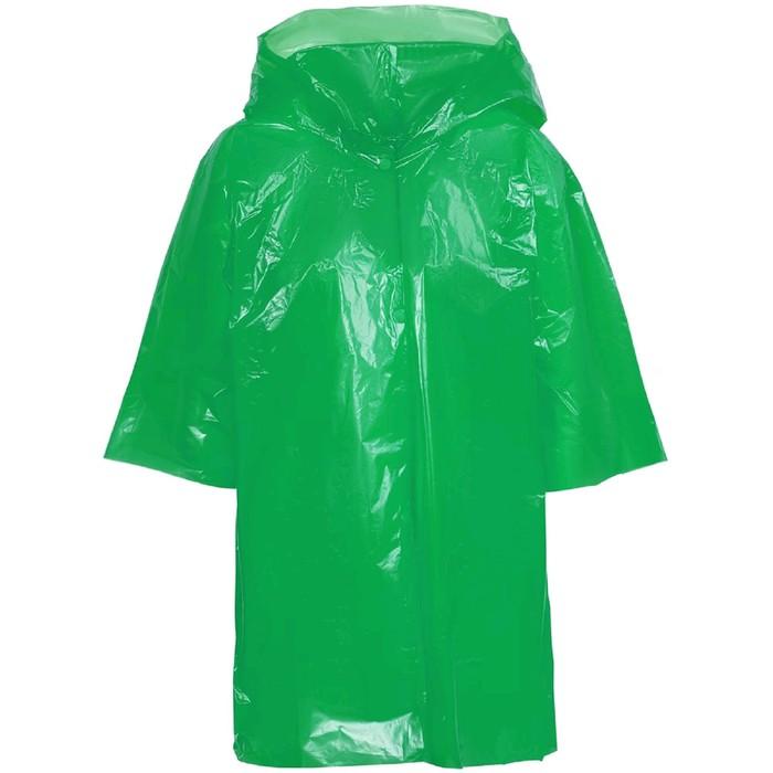Дождевик-плащ детский BrightWay Kids, цвет зелёный