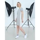 Платье женское, цвет меланж/полоска, размер 42