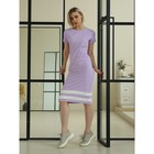 Платье женское, цвет лиловый, размер 42