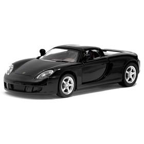 Машина металлическая Porsche Carrera GT, 1:36, открываются двери, инерция, цвет чёрный