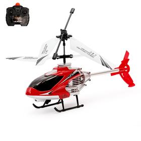 Вертолёт радиоуправляемый, со световыми эффектами, цвет красный Ош