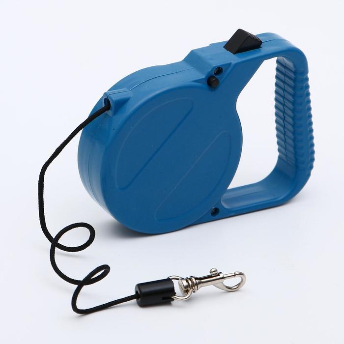 Рулетка малая эконом, 3 м, до 18 кг, синяя