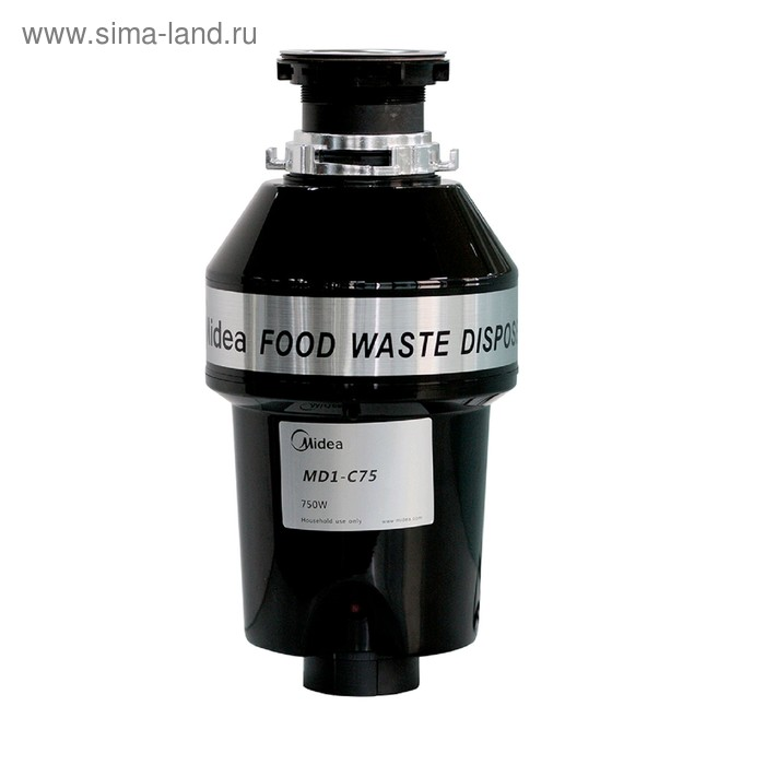 Измельчитель пищевых отходов Midea MD1-C75, 750 Вт, 2900 об/мин, 1100 мл, чёрный