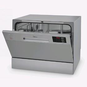 Посудомоечная машина Midea MCFD55320S, 6 комплектов, 6 программ, серебристая Ош