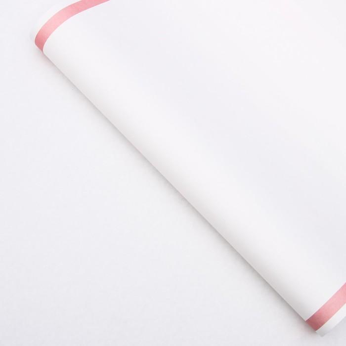 Бумага упаковочная, Рамка, крафт, розовая, 50 х 70 см