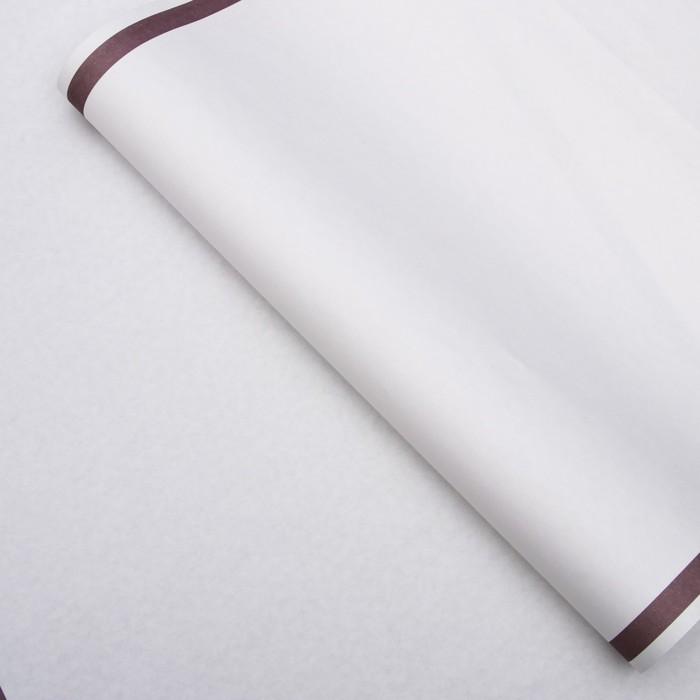 Бумага упаковочная, Рамка, крафт, сиреневая, 50 х 70 см