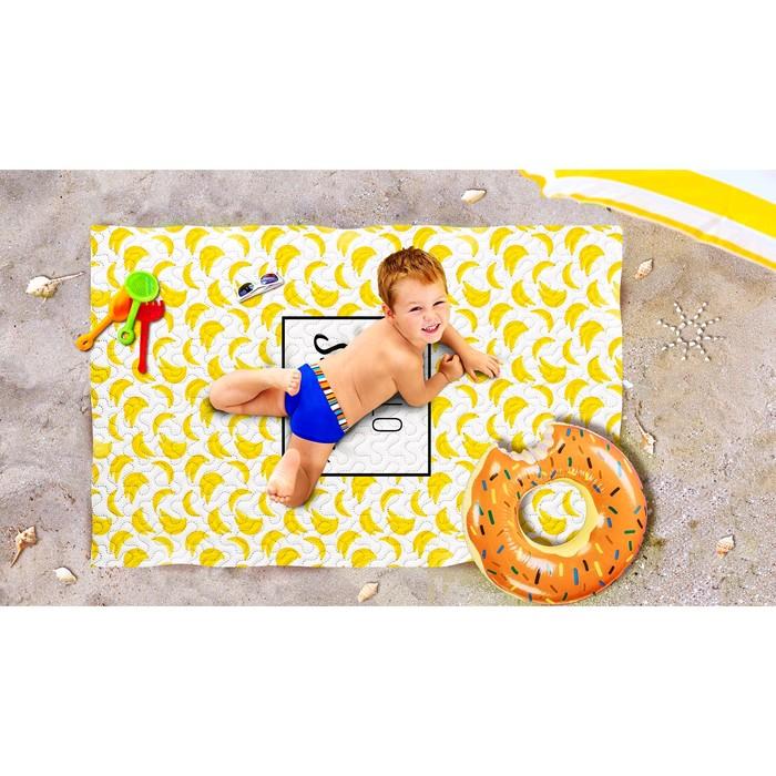 Пляжное покрывало «Банановый смузи», размер 90 × 140 см