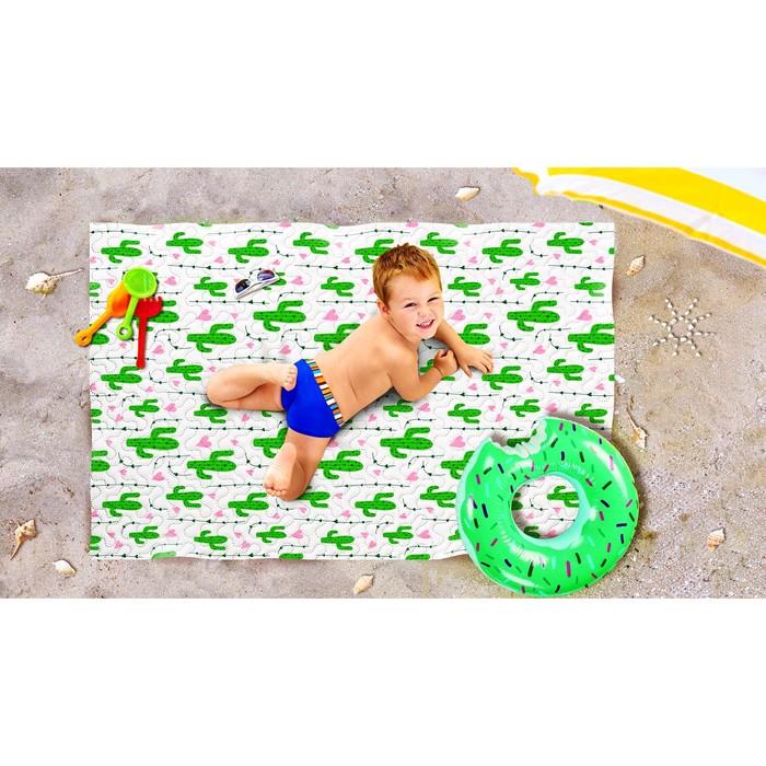 Пляжное покрывало «Влюбленные кактусы», размер 90 × 140 см