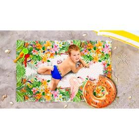 Пляжное покрывало «Тропическое лето», размер 90 × 140 см