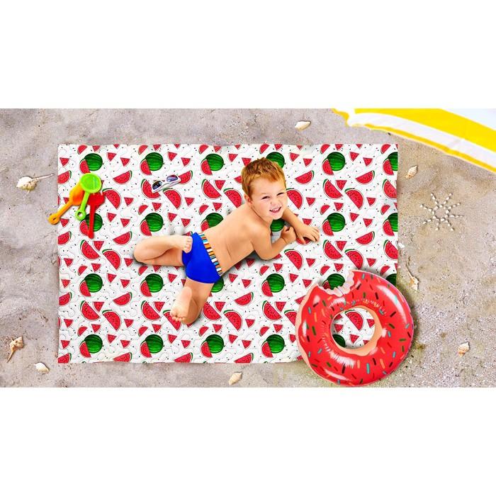 Пляжное покрывало «Арбузный фреш», размер 90 × 140 см