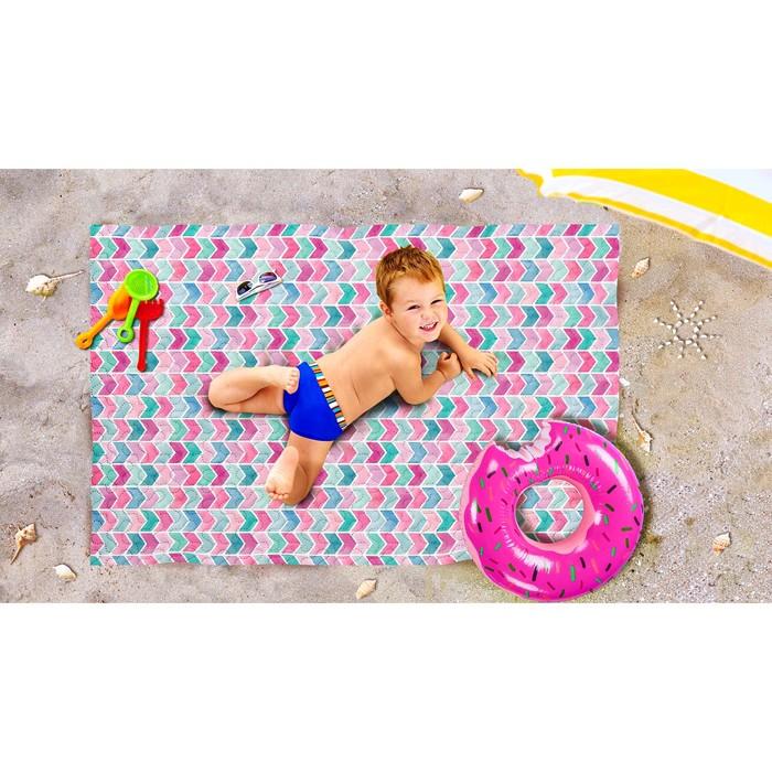 Пляжное покрывало «Акварельное море», размер 90 × 140 см