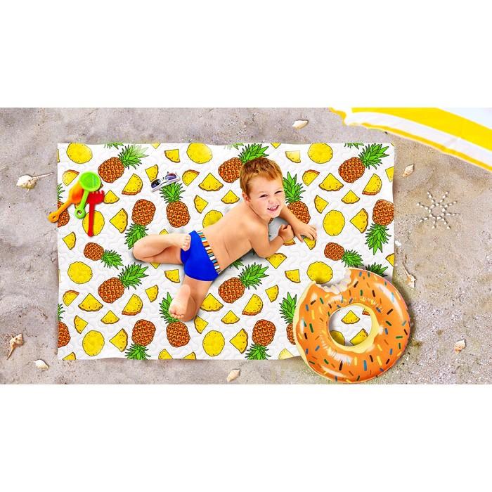 Пляжное покрывало «Ананасовый коктейль», размер 90 × 140 см