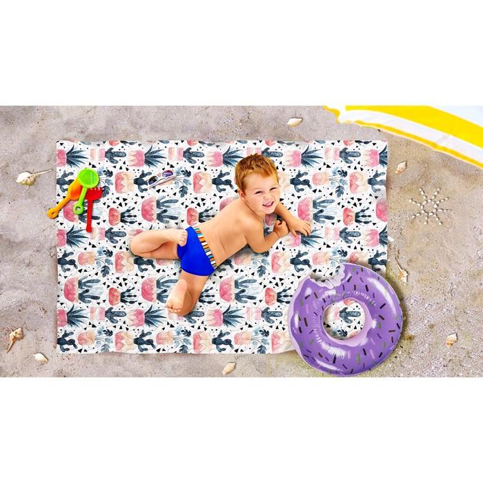 Пляжное покрывало «Баннаби», размер 90 × 140 см