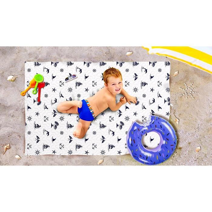 Пляжное покрывало «Булли», размер 90 × 140 см