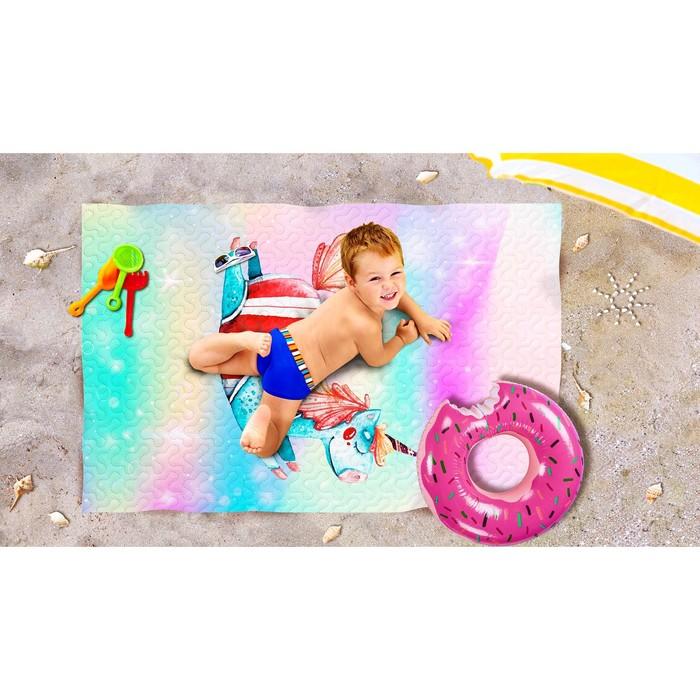 Пляжное покрывало «Волшебный пони», размер 90 × 140 см