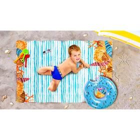Пляжное покрывало «Морское дно», размер 90 × 140 см