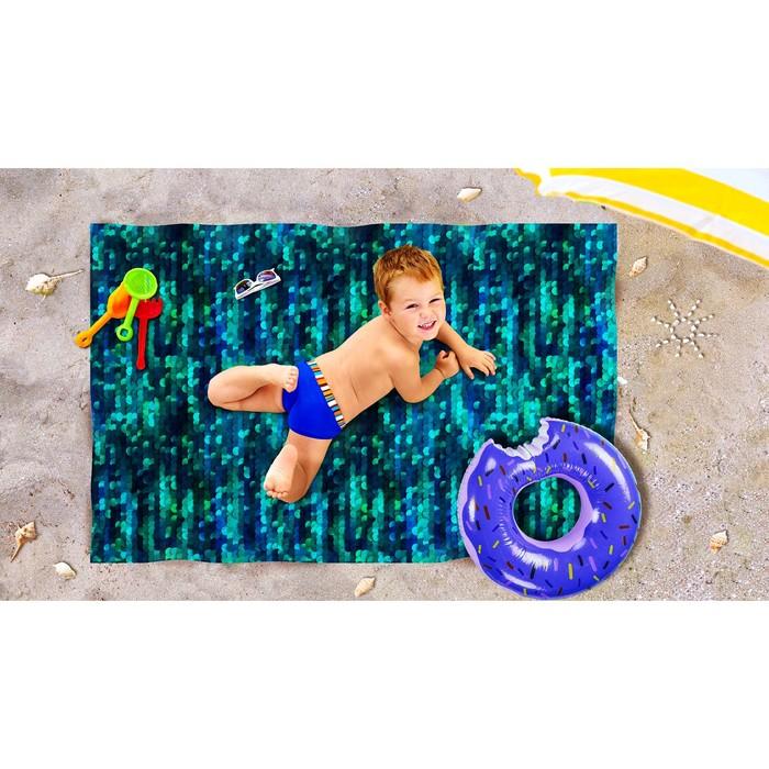 Пляжное покрывало «Блеск топаза», размер 90 × 140 см