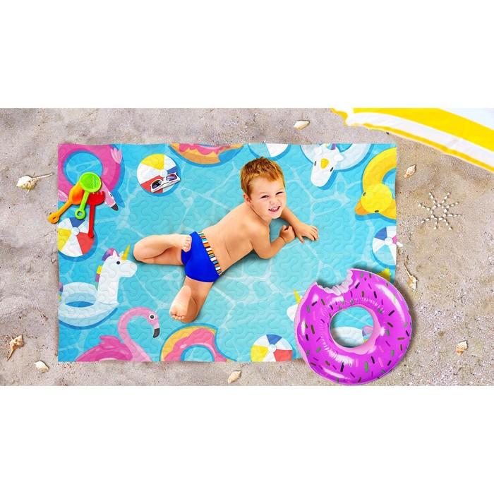 Пляжное покрывало «Веселые каникулы», размер 90 × 140 см