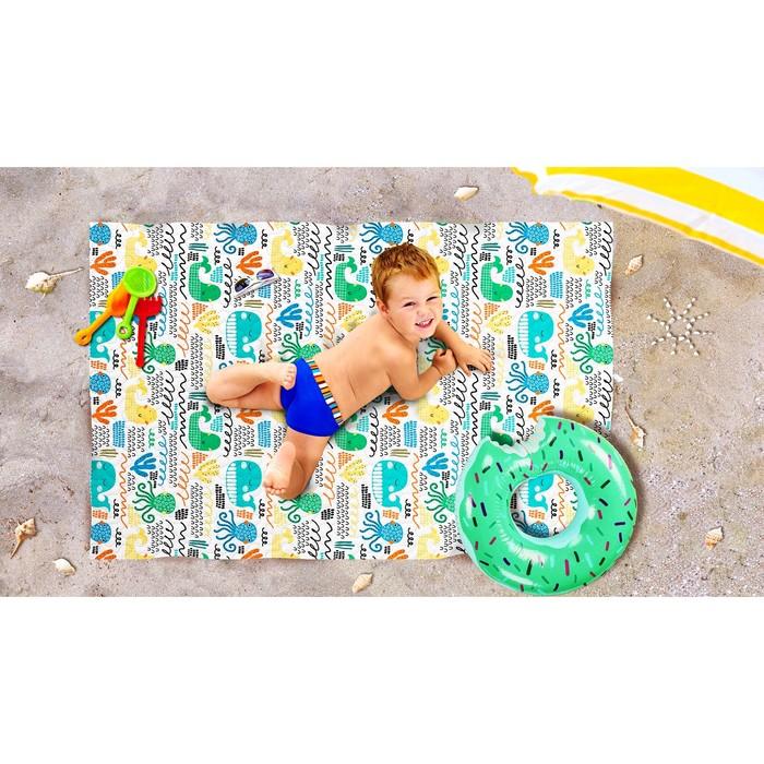 Пляжное покрывало «Веселый осьминожек», размер 90 × 140 см