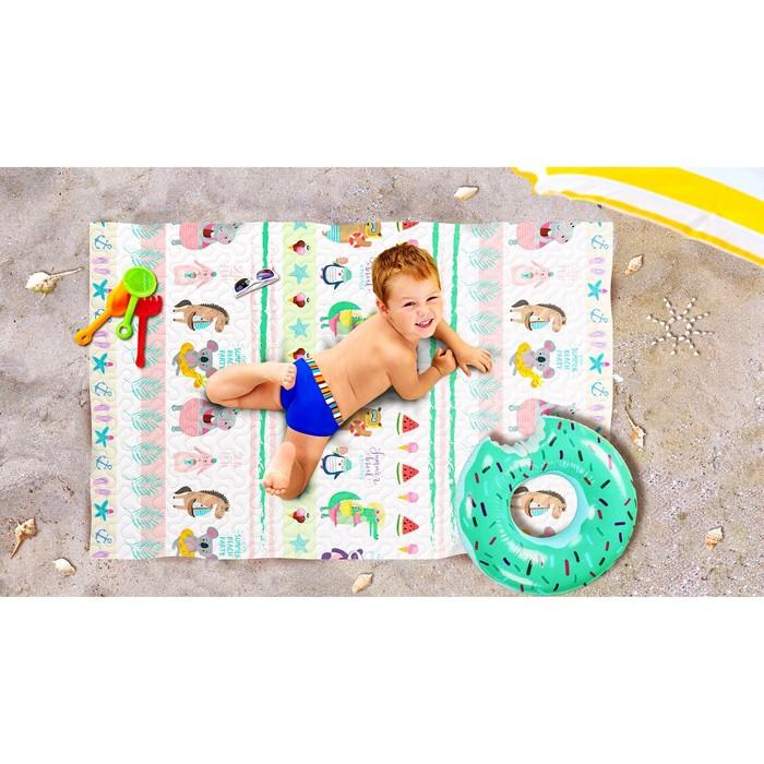 Пляжное покрывало «Веселый отдых», размер 90 × 140 см
