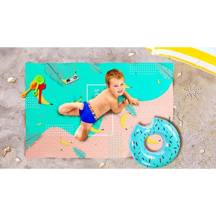 Пляжное покрывало «Банановый микс», размер 90 × 140 см